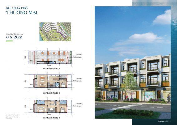 Nhà phố thương mại The Suite Aqua City
