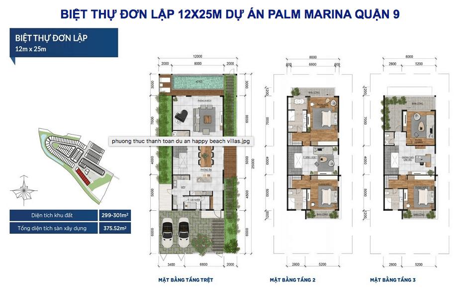 biệt thự đơn lập palm marina quận 9