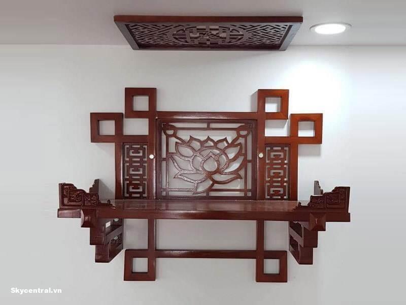Bàn thờ treo tường đa dạng nhiều kích thước, mẫu mã.