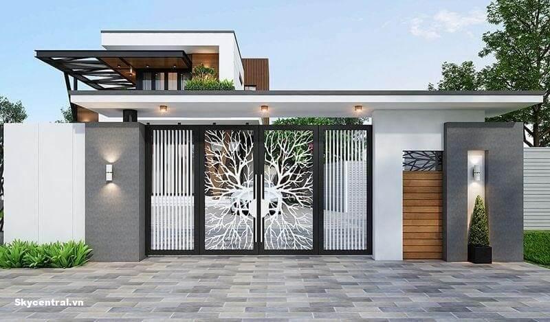 Thiết kế kích thước cổng nhà dựa trên kích thước lỗ ban.