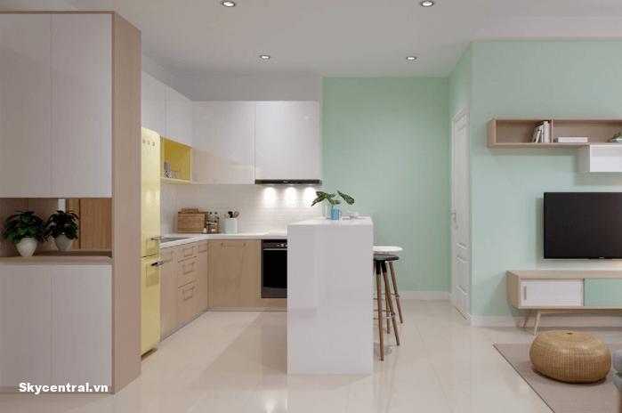 Nhà bếp cho căn hộ chung cư 40m²