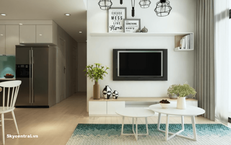 Thiết kế nội thất phòng khách chung cư nhỏ 50m²