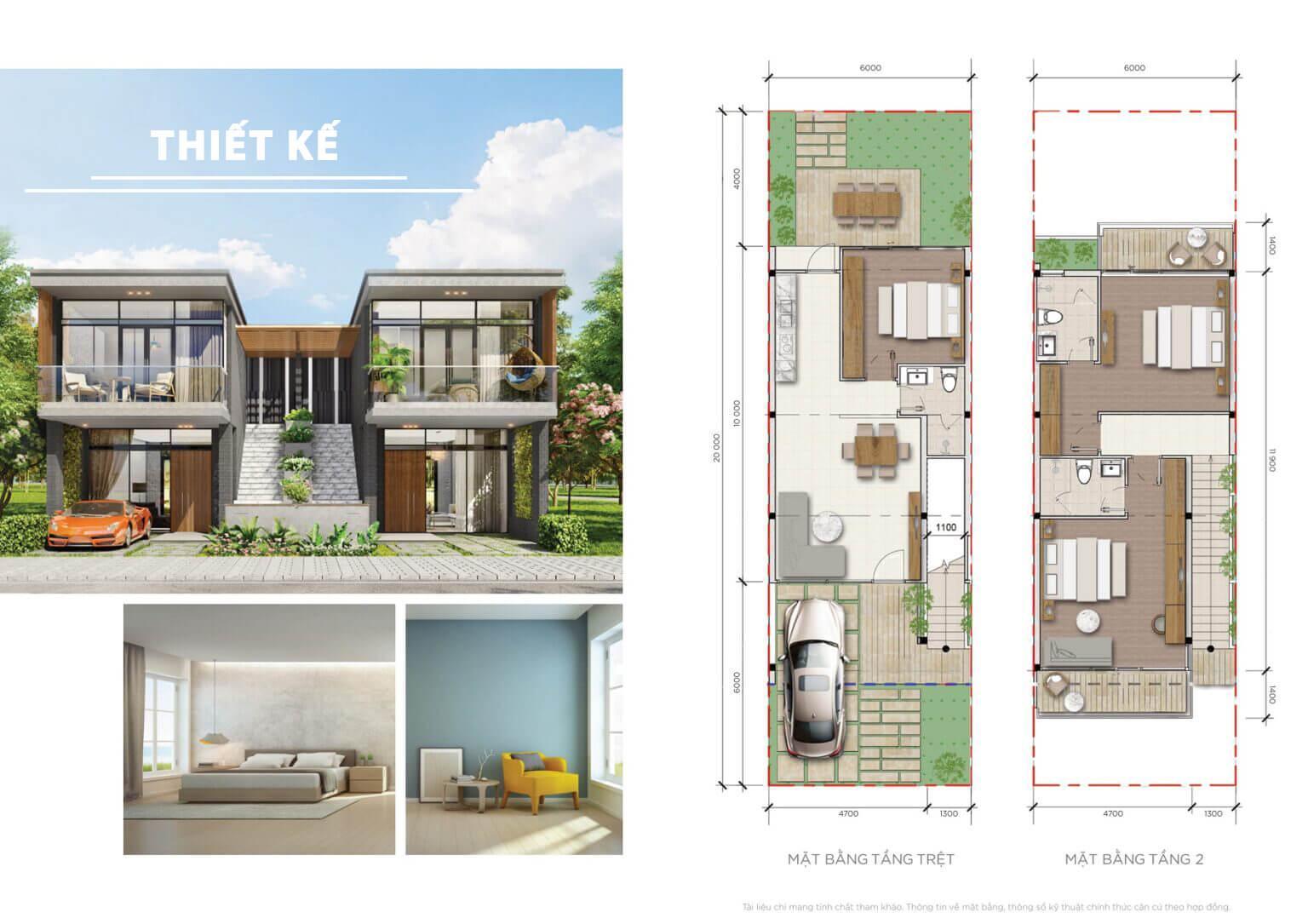 thiết kế phân khu happy beach villas