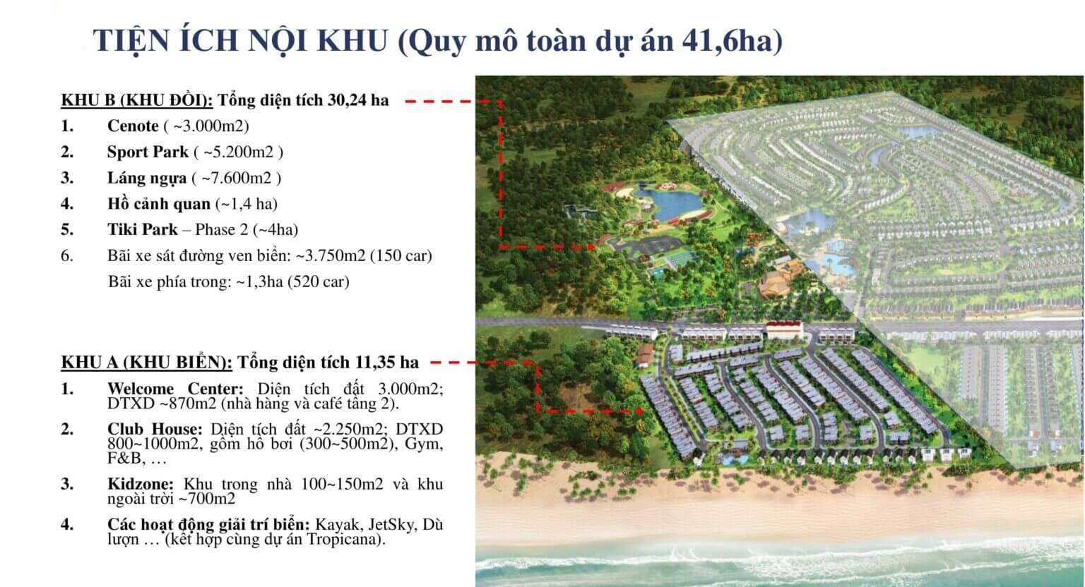 tiện ích khu đồi happy beach villas