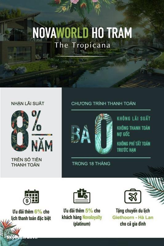 ưu đãi khi đặt mua dự án the tropicana