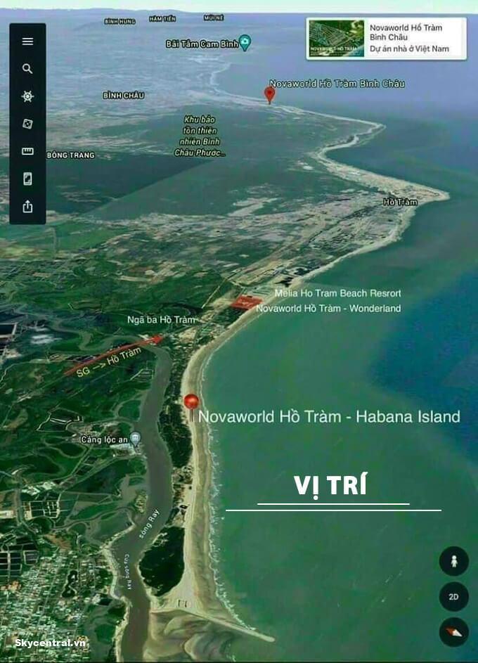 vị trí dự án habana island