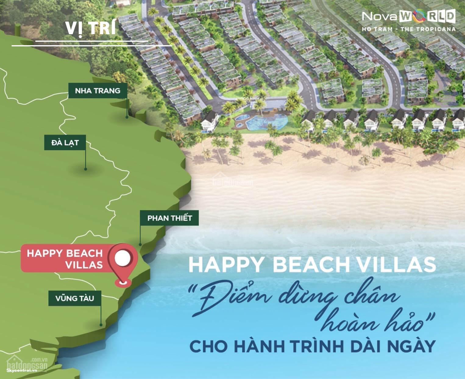 vị trí tiềm năng phân khu happy beach villas
