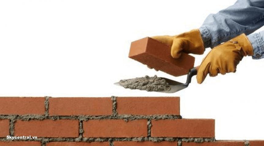 Những lưu ý khi xây tường gạch