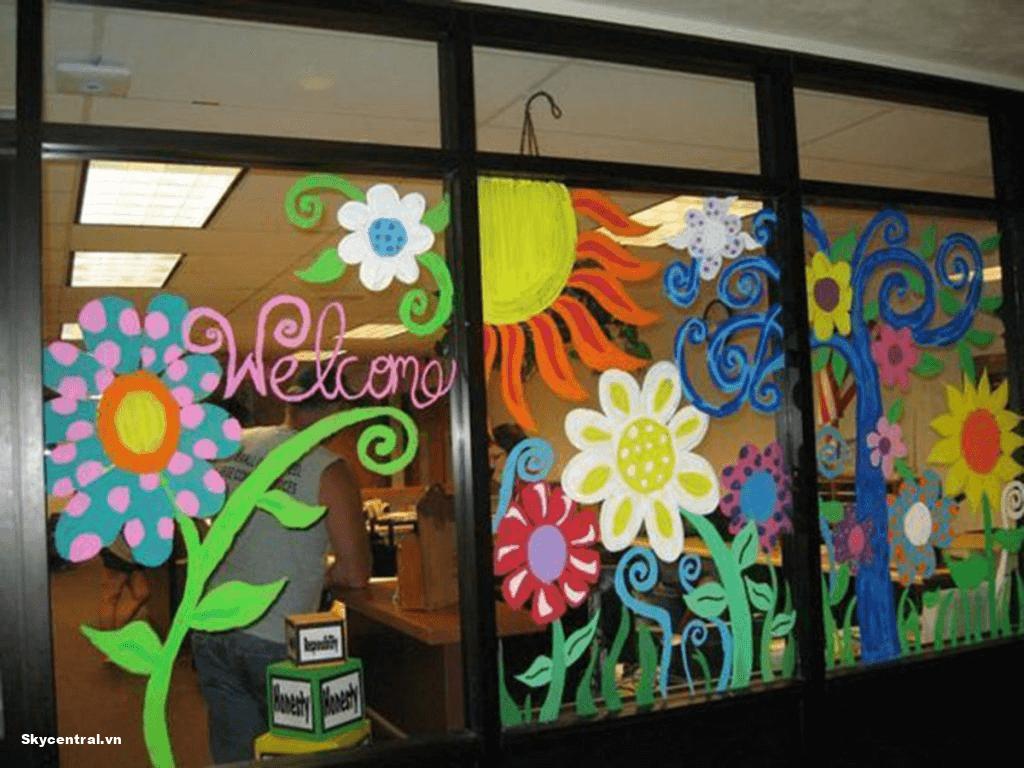 Sự sáng tạo độc đáo biến cửa sổ thành một vườn hoa rực rỡ