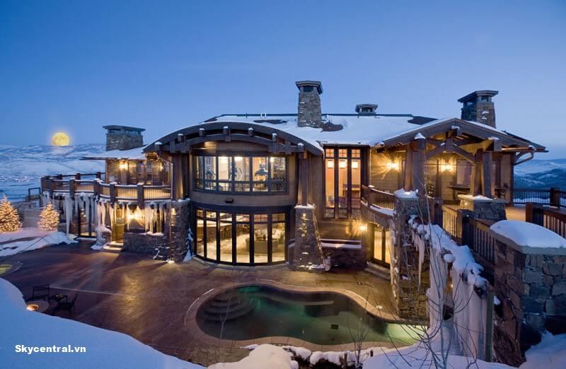 Biệt thự đẹp nhất thế giới: Ski Dream Home tại Utah