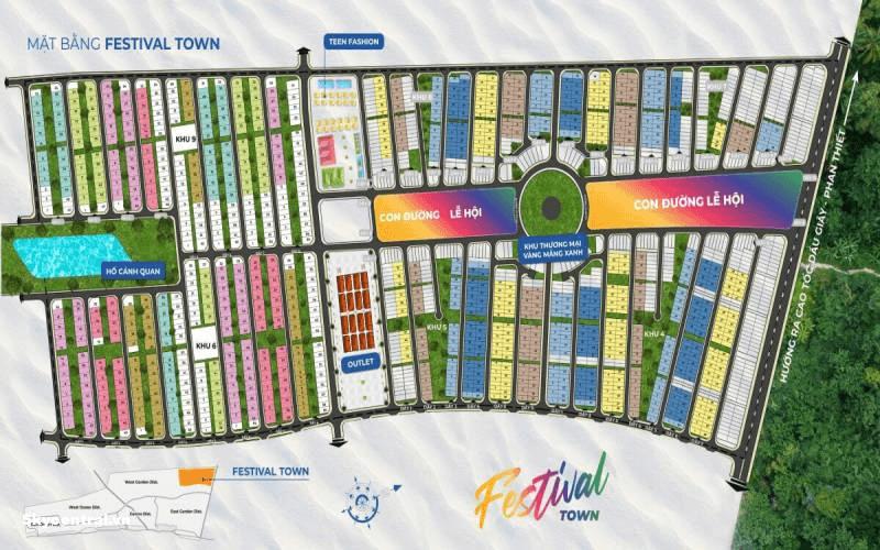 Mặt bằng tổng thể phân khu Festival
