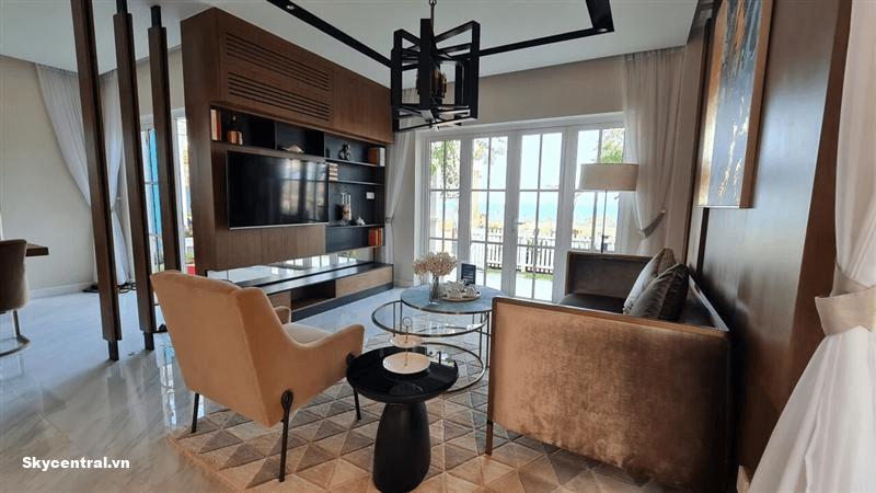 Phòng khách đầy đủ tiện nghi nội thất
