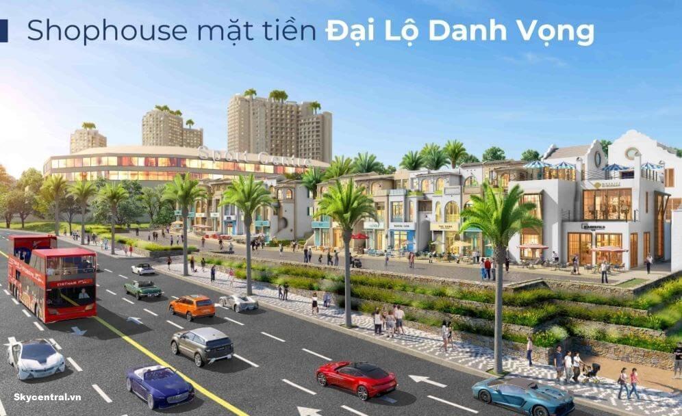 Nhà mẫu shophouse mặt tiền Đại lộ Danh Vọng