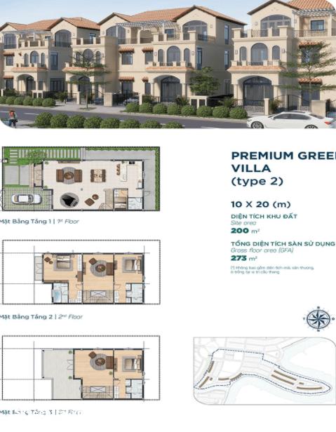 Thiết kế mặt bằng Premium Green Villa type 2