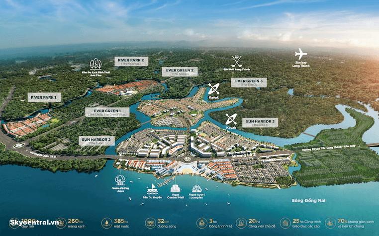Aqua City Sun Harbor 1 - 2 - 3 - Phân khu