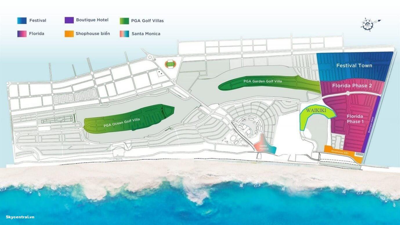 Vị trí của phân khu Waikiki Novaworld Bình Thuận Phan Thiết